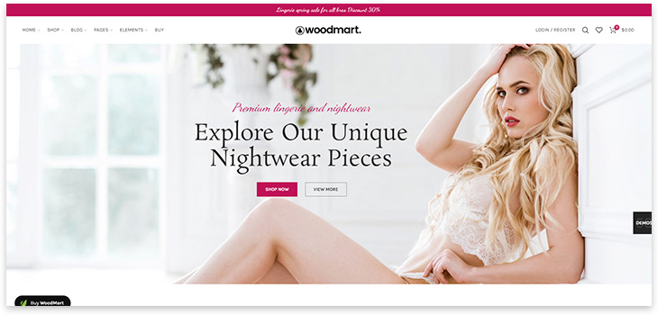 Wordpress lingerie