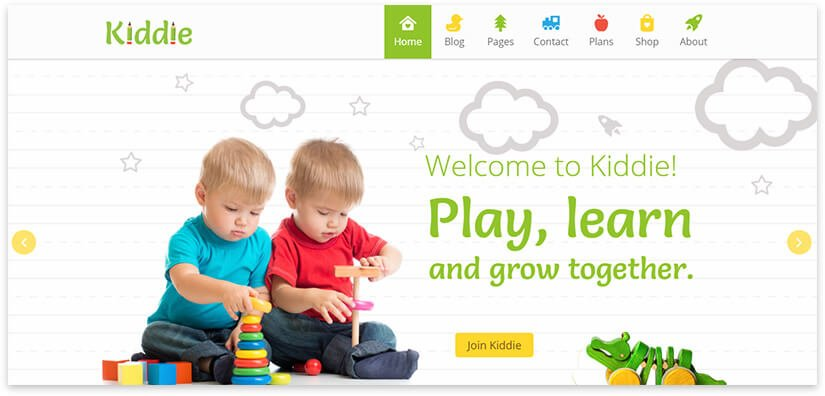 template for children's site
