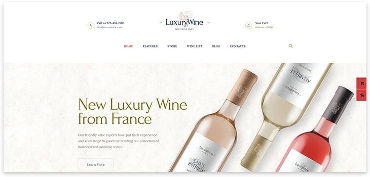 Wordpress Alcoholic Shop