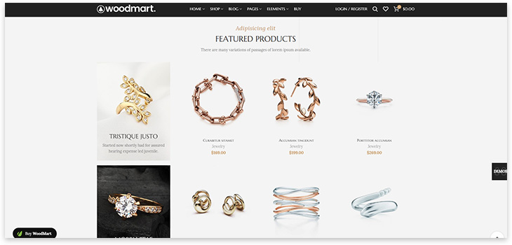 woodmart theme for the site