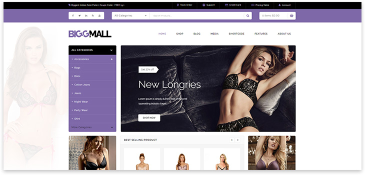 mall site theme