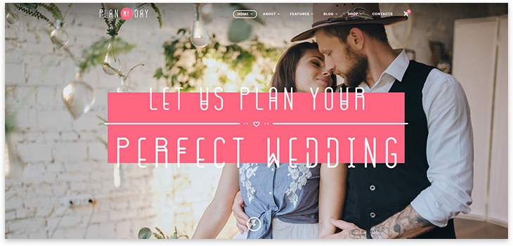 Wordpress wedding organization