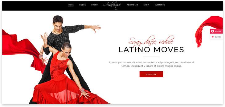 Latin American dancing site