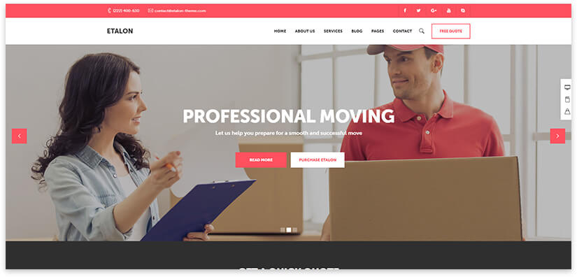 Relocation website template