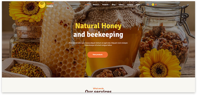 Honey wordpress theme