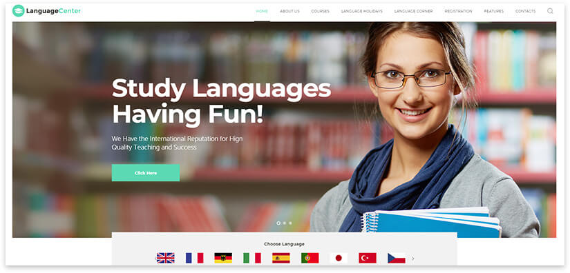 Language school theme