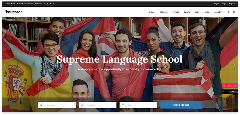 Theme for WordPress school site
