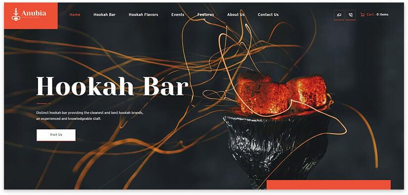 Website template for hookah 2019