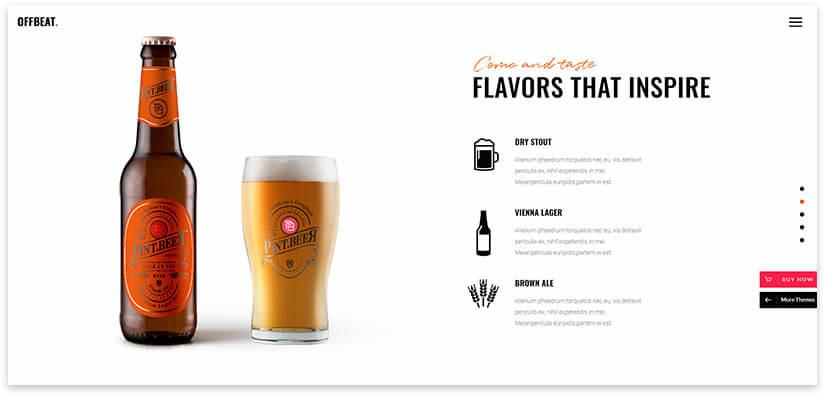 beer theme wordpress
