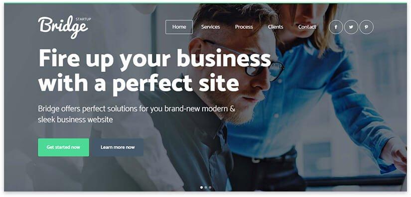Business agency website template
