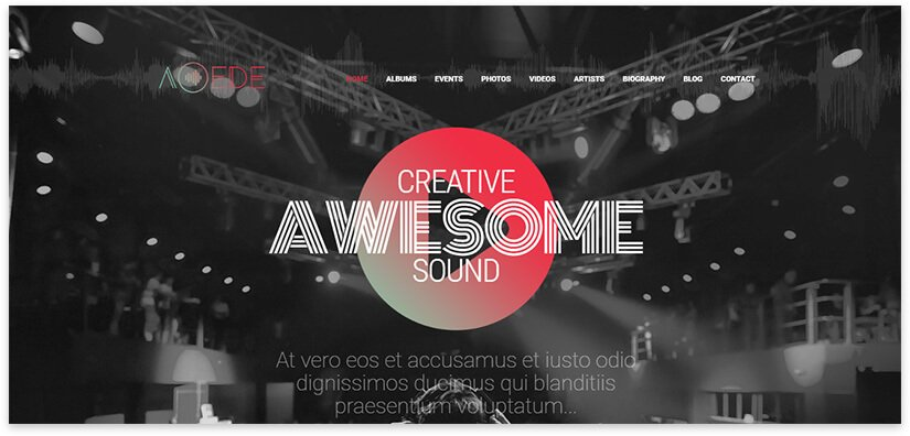 15 templates for a music site on WordPress 2020