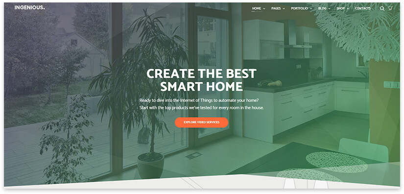 Smart Home Website Template