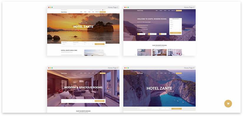 hostel site theme