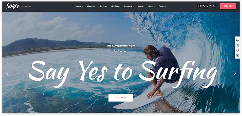 surfing site
