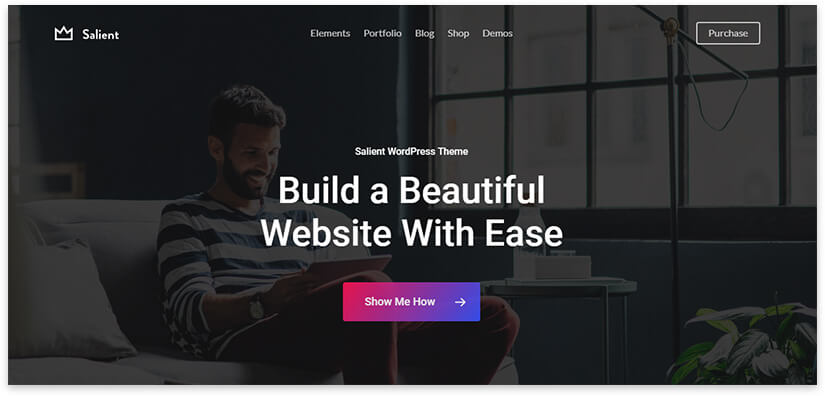 portfolio-salient template