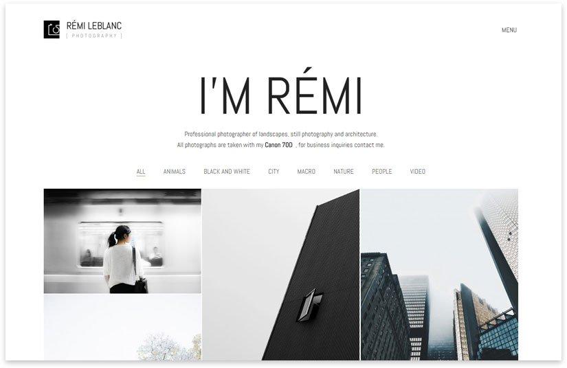 minimalism theme