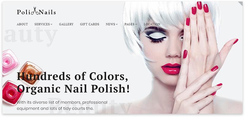 manicure website template