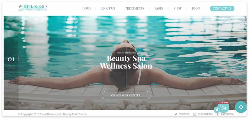 wellness salon site