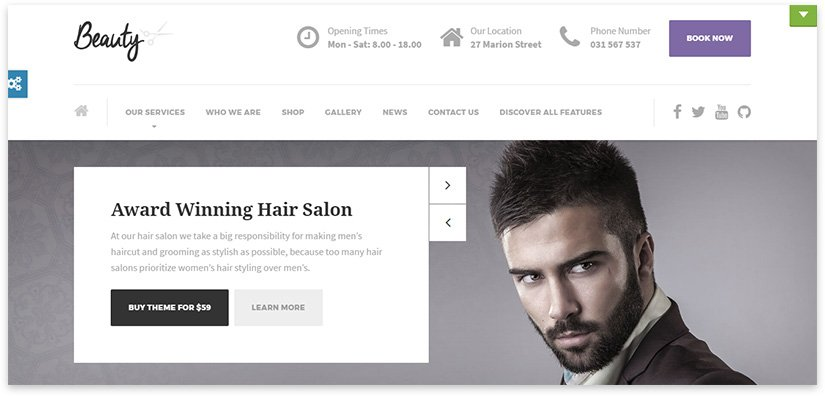 men's hairdresser theme
