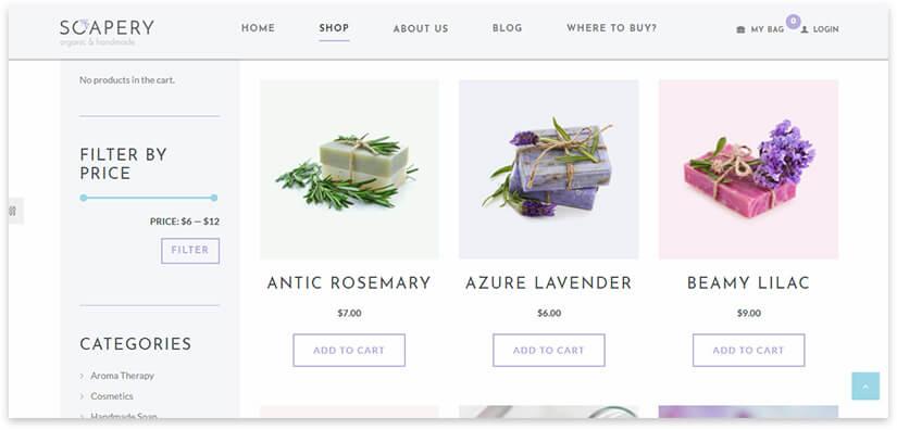 Soap sale shop template