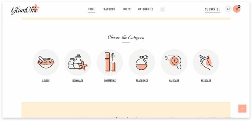 Beauty Store Website Template