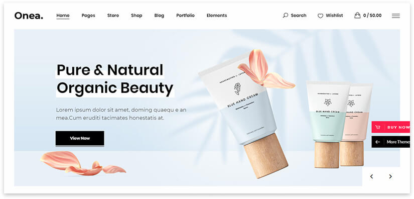 WordPress Cosmetics Template