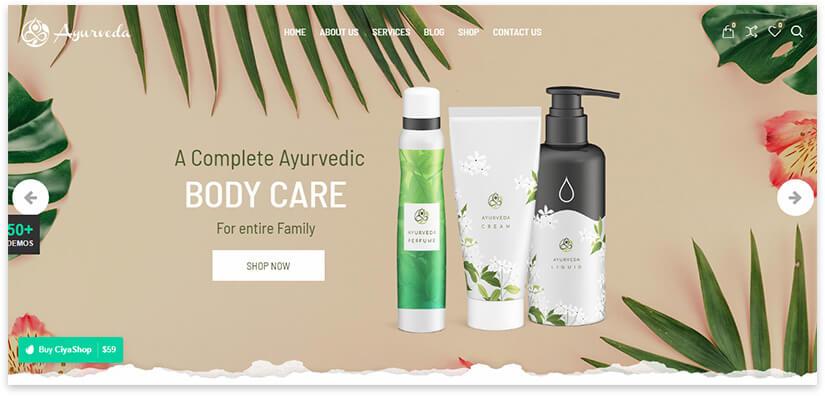 Natural cosmetics store
