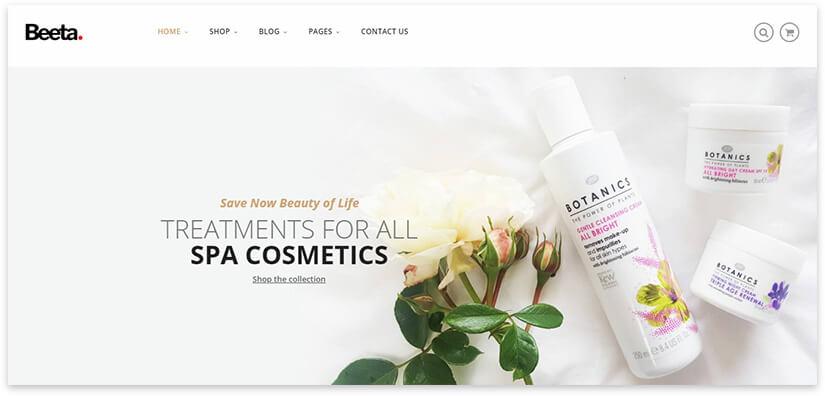 spa cosmetics online store