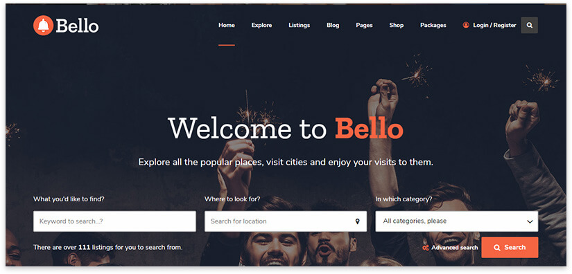 City Places Directory Template