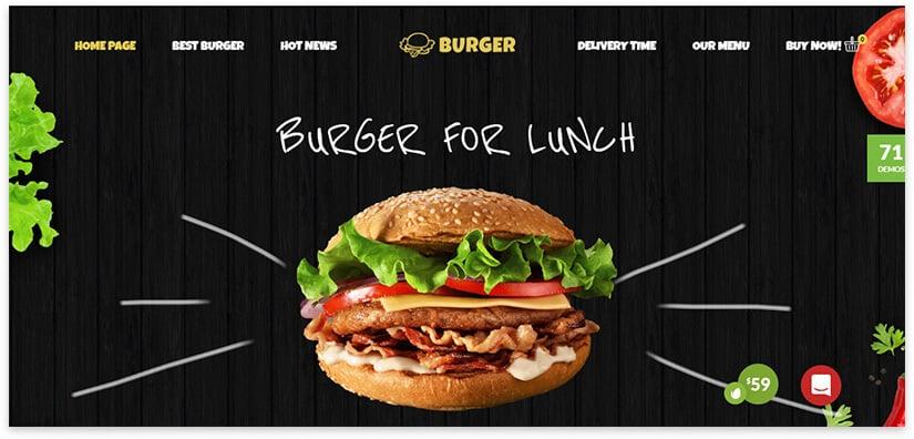 Burger Website Template