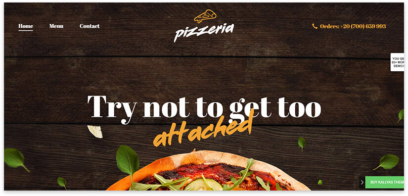 template for pizzeria site