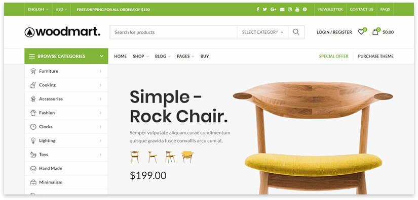 wordpress online store template