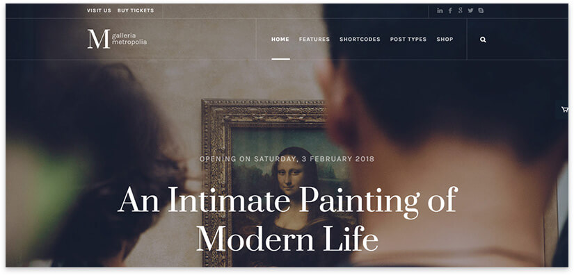 template for gallery website 2018