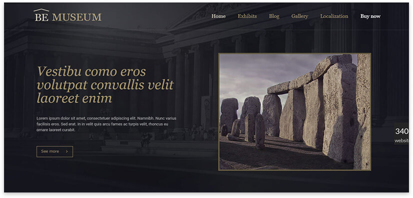 WordPress gallery landing