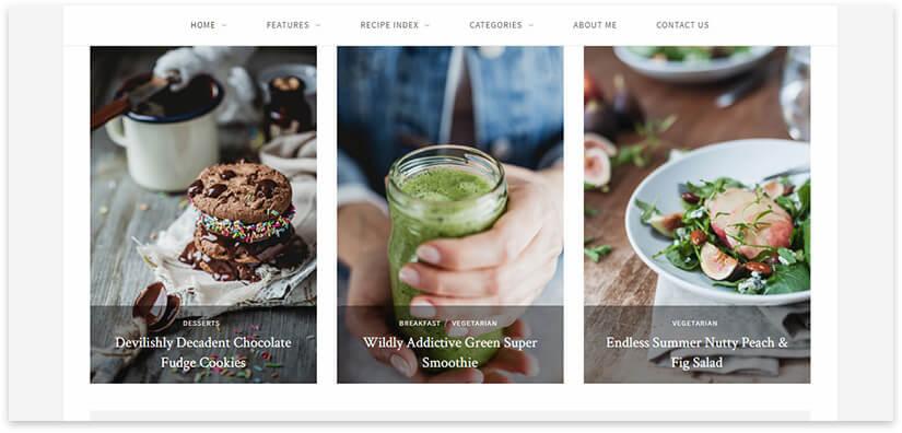 minimalism food template