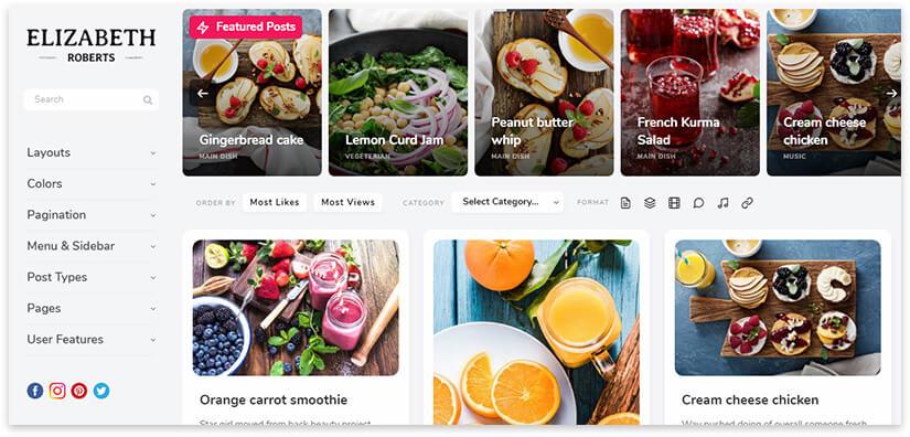 pluto culinary blog template