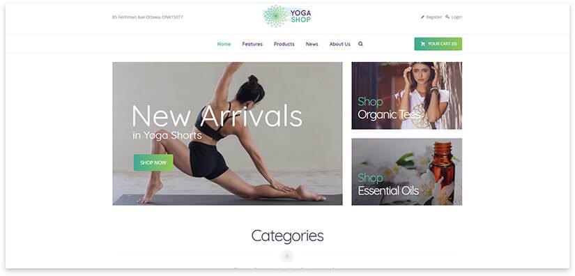 Shop yoga goods