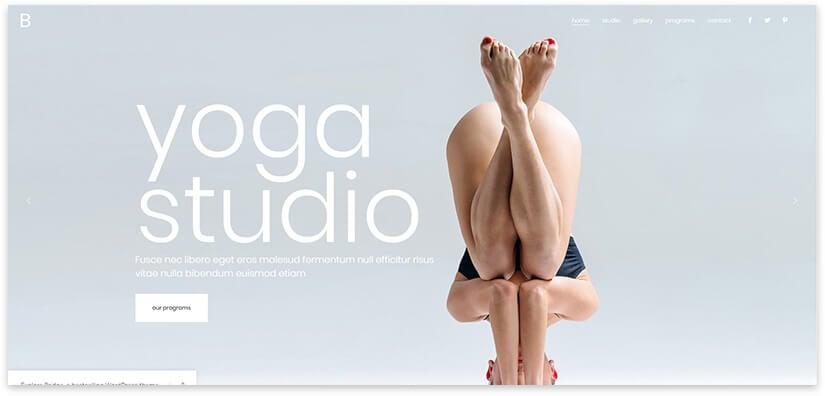 Yoga Landing on WordPress