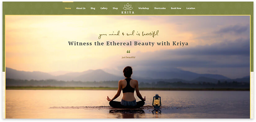 Yoga theme for the site.