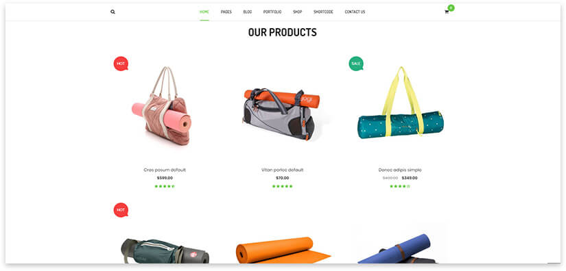 Shop for yoga inventory