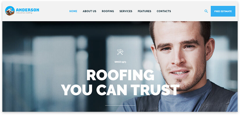 roofing work website template