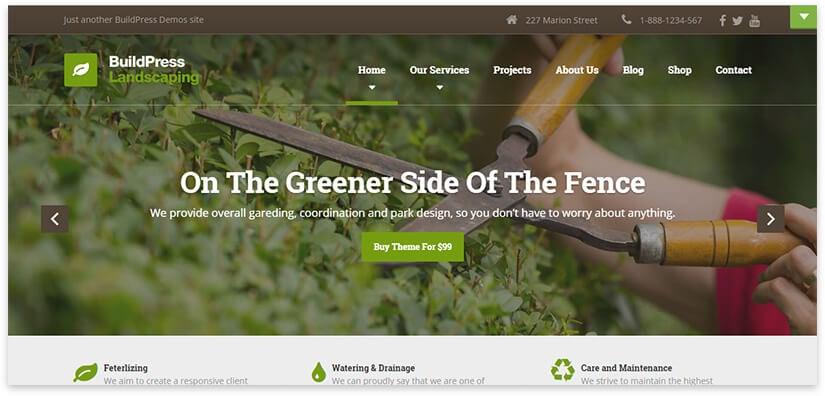 garden site template