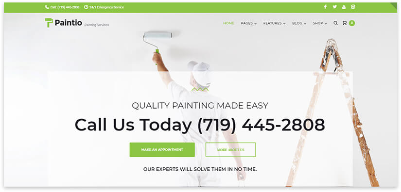 wall painting website template