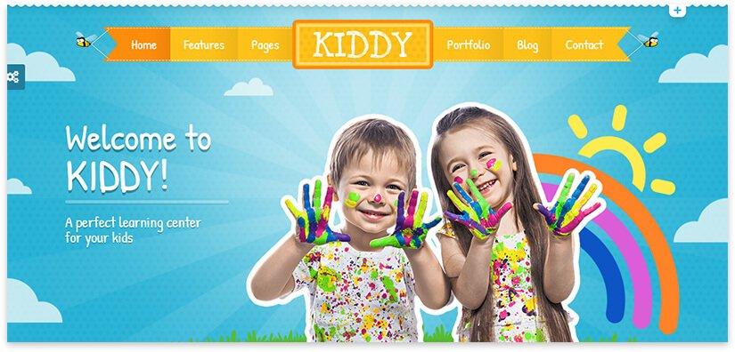 kids bright pattern wp