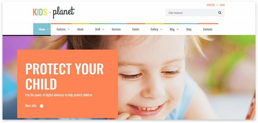 school for smart kids wordpress