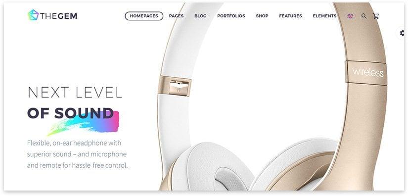 headphone landing