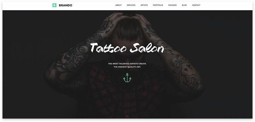 Theme for tattoo studio 2019