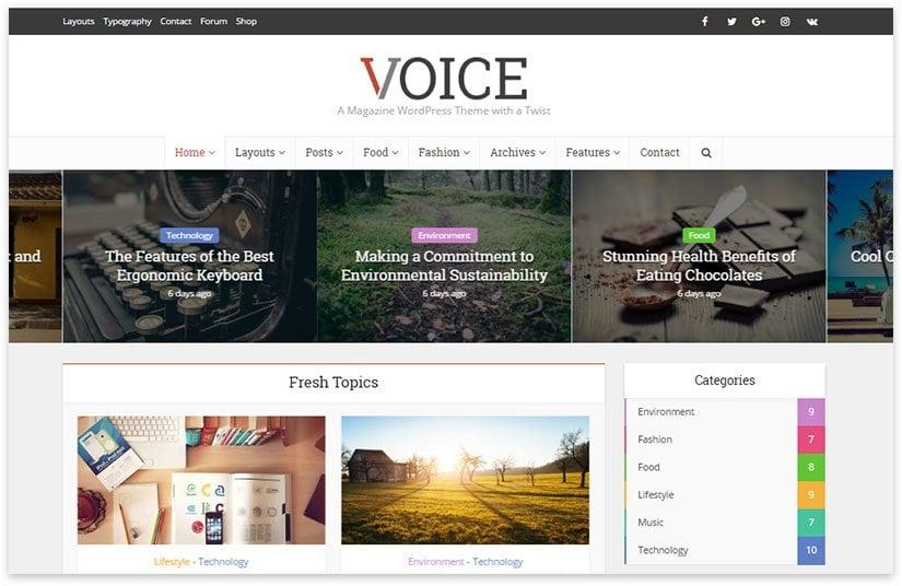 voice creative theme