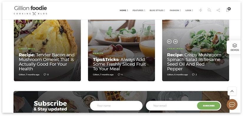 food blog worpdress