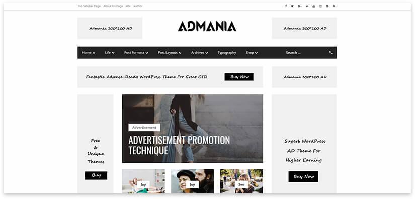 Website for advertising